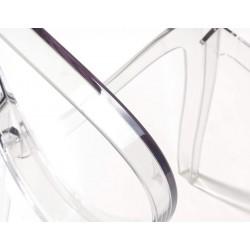 Set da 4 Sedia MODERNA ELEGANTE shabby chic in policarbonato trasparente