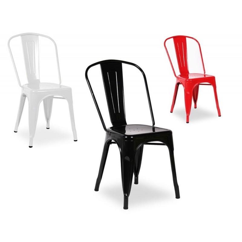 Set da 5 Sedie Design vintage Mod Industrial disponibile nei Colori Nero