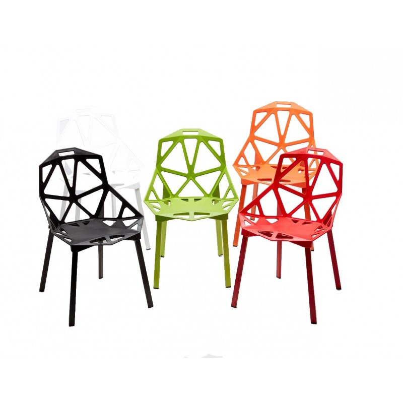 Sedie Polipropilene Design.Set 4 X Sedie Hexagonal Design Moderno Ed Ergonomico In Polipropilene Diversi Colori