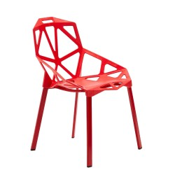 Set 4 X Sedie Hexagonal design moderno ed ergonomico in Polipropilene diversi colori
