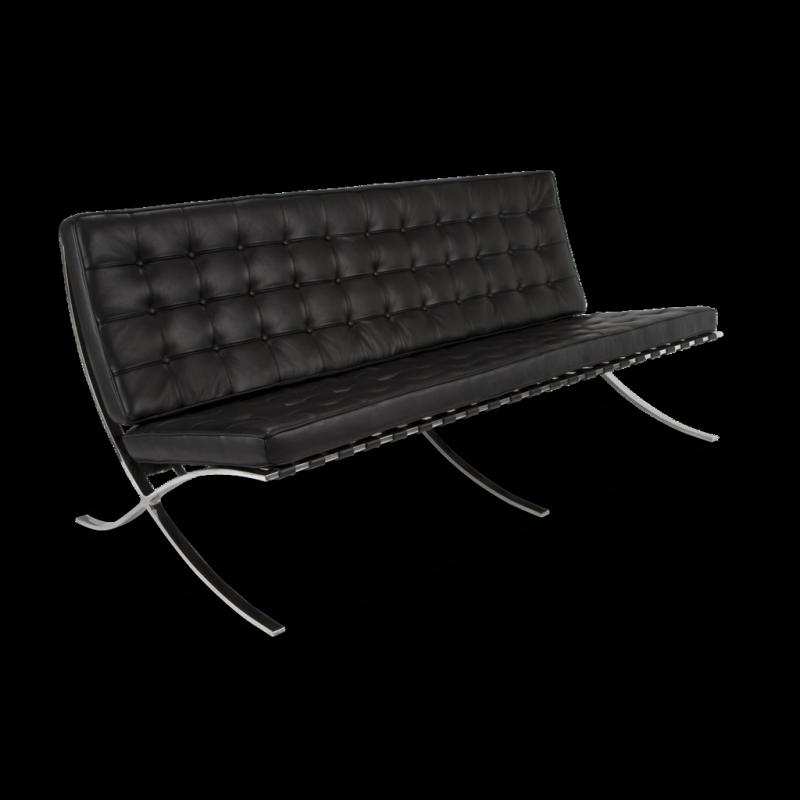 Elishe 3 black divano tre posti in pelle - Divano tre posti ecopelle ...