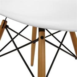 Sedia design modello Dsw con gambe in legno di Faggio naturale Patchwork Multicolre